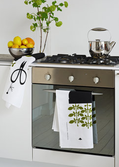 2-package Kitchen towels »Basil» and »Mortar»